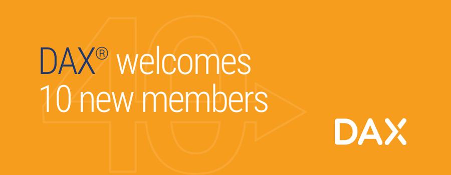 DAX Welcomes Ten New Members